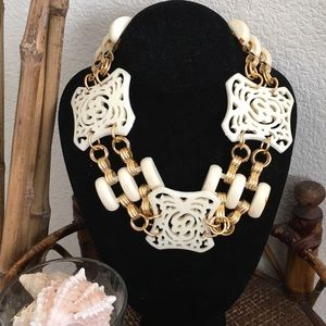NORDSTROM Gold and Ivory Statement Necklace